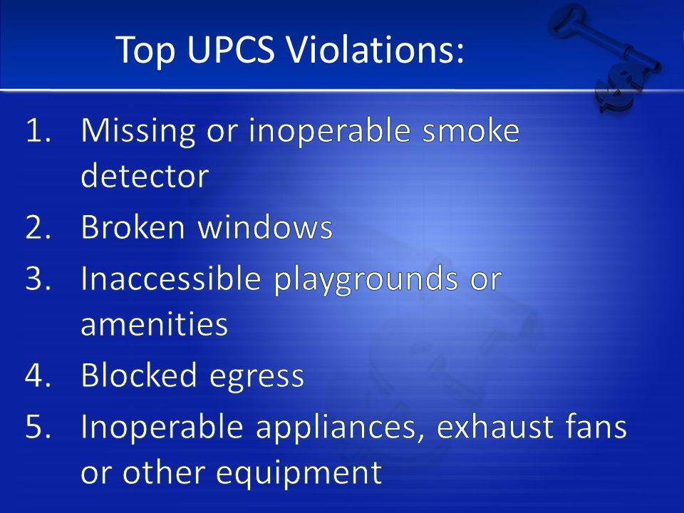 Top UPCS Violations: