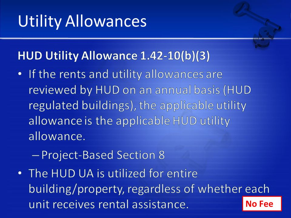 Utility Allowances No Fee