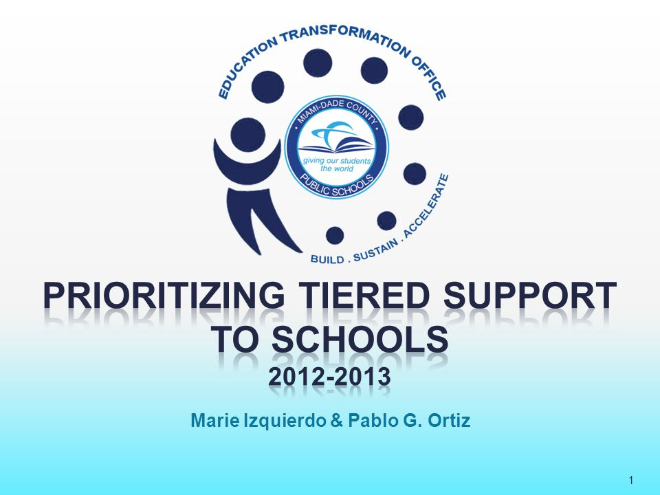 Prioritizing Tiered Support to Schools 2012-2013 2 26 schools defined as persistently low- achieving by the requirements of the School Improvement Grant; supported by the Education Transformation Office All Other Designations Non-SIG Schools within ETO assigned to ETO Office SIG Schools 40 schools that have historically been vulnerable schools; supported by the Education Transformation Office A , B , and C schools that have demonstrated consistent improvement; supported generally by the district through region offices