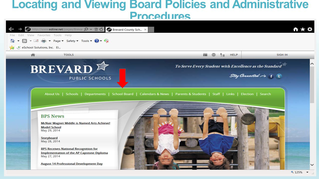 Locating and Viewing Board Policies and Administrative Procedures