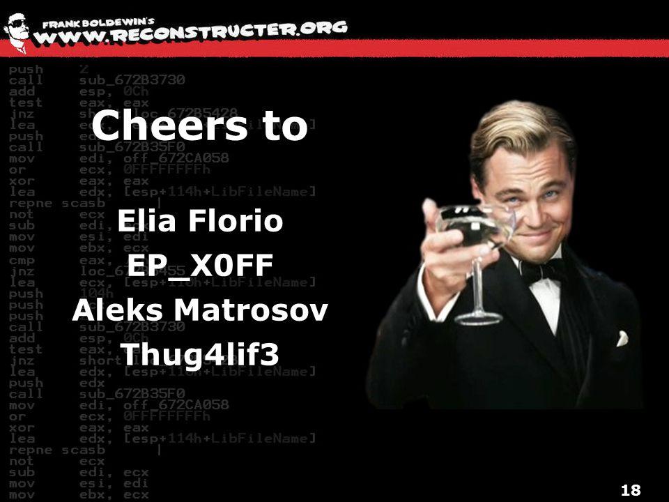 18 Cheers to Elia Florio EP_X0FF Aleks Matrosov Thug4lif3