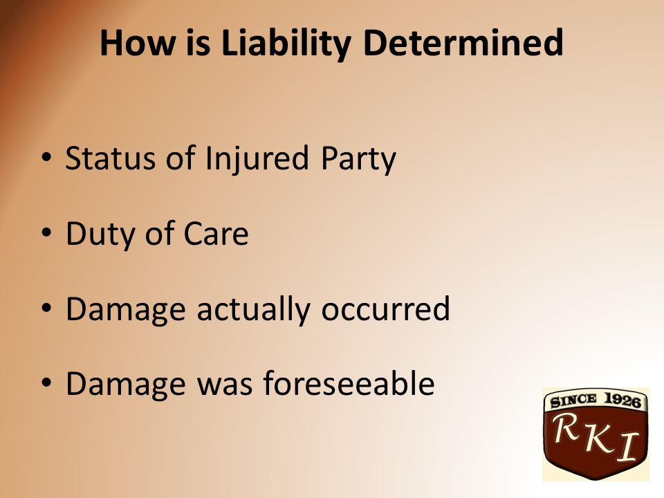 Status of Injured Party Trespasser Invitee Licensee