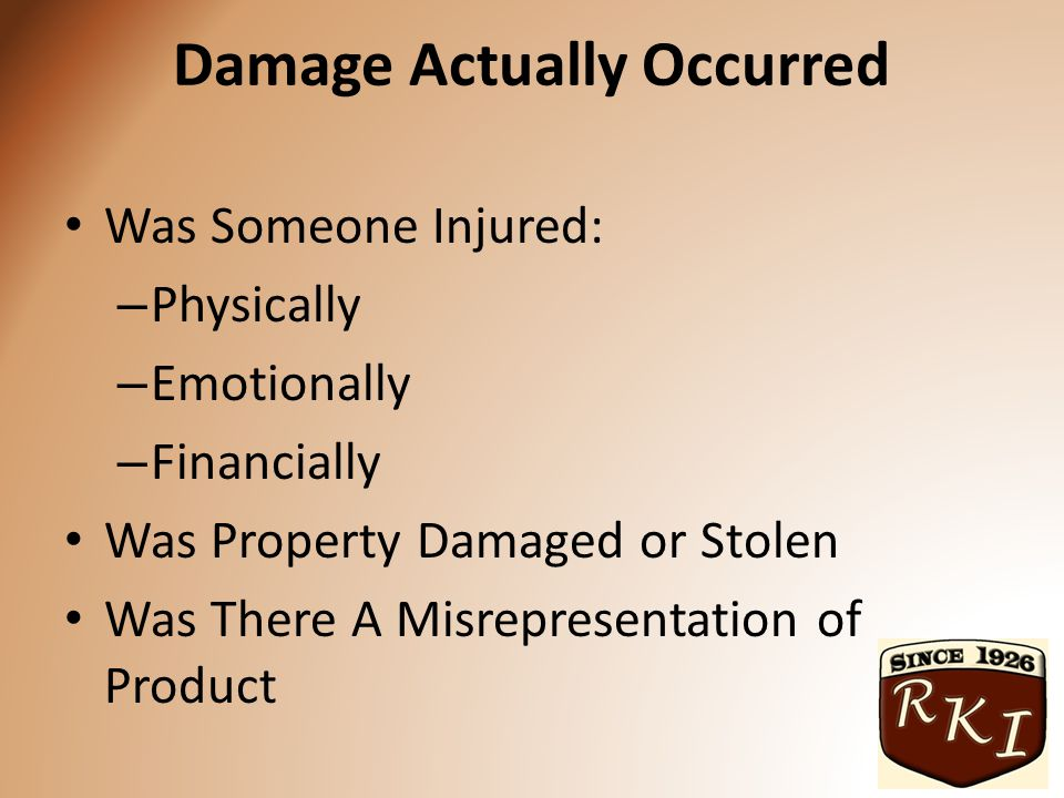 Bodily Injury Medical Expenses Pain and Suffering Loss of Wages (measured by Capacity) Loss of Future Benefits Outside resources such as Social Security and insurance benefits or payments are not typically allowed to be part of any litigation.