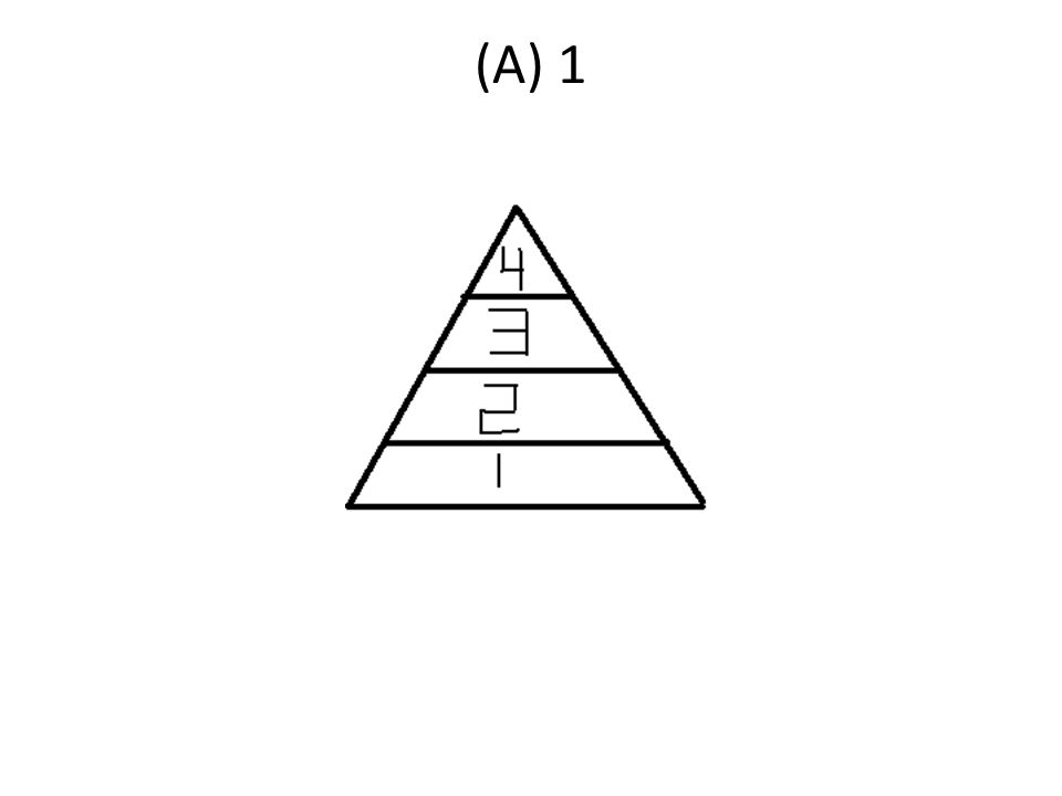 Where in the Energy Pyramid below would Producers be placed in? A) A B) B C) C D)D