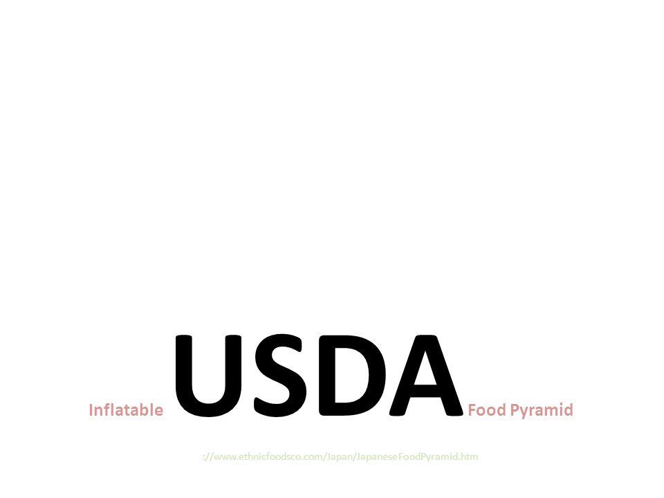 Inflatable USDA Food Pyramid http://www.ethnicfoodsco.com/Japan/JapaneseFoodPyramid.htm