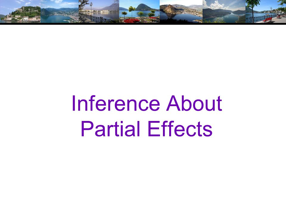 Inference About Partial Effects
