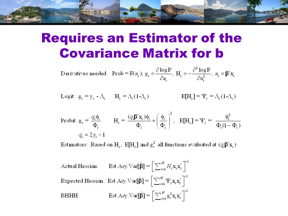 Requires an Estimator of the Covariance Matrix for b