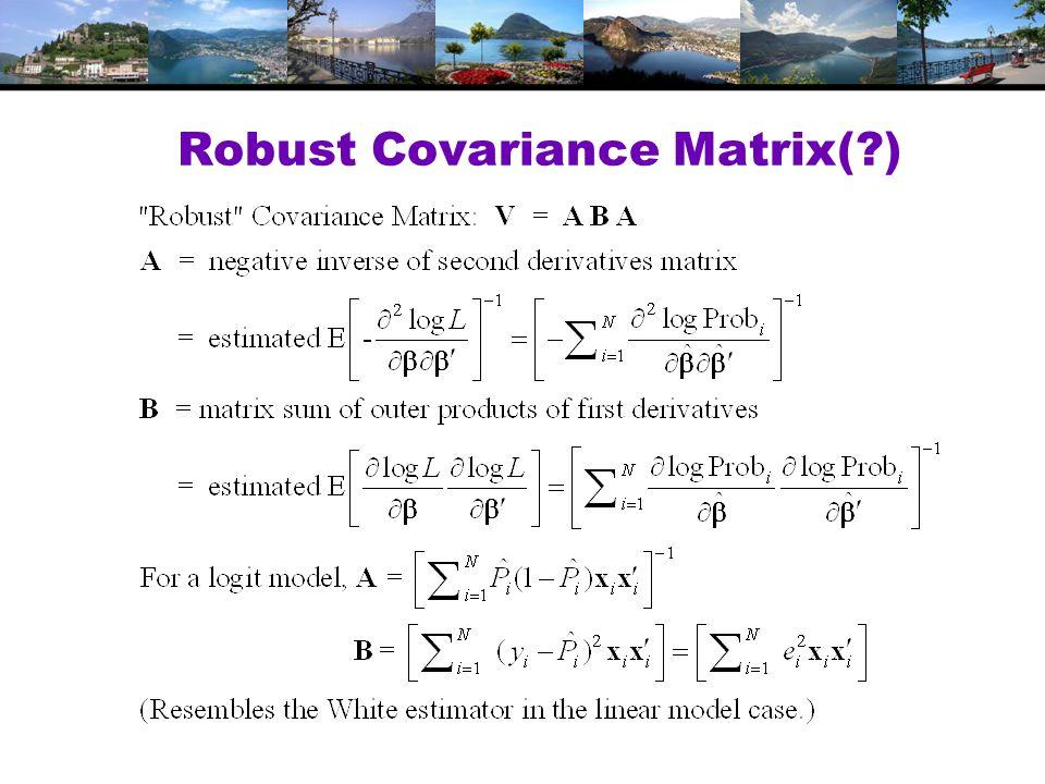 Robust Covariance Matrix( )