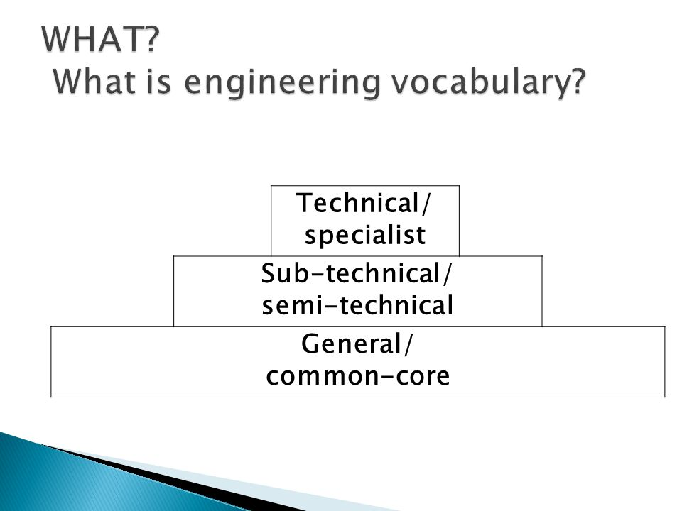 Technical/ specialist Sub-technical/ semi-technical General/ common-core