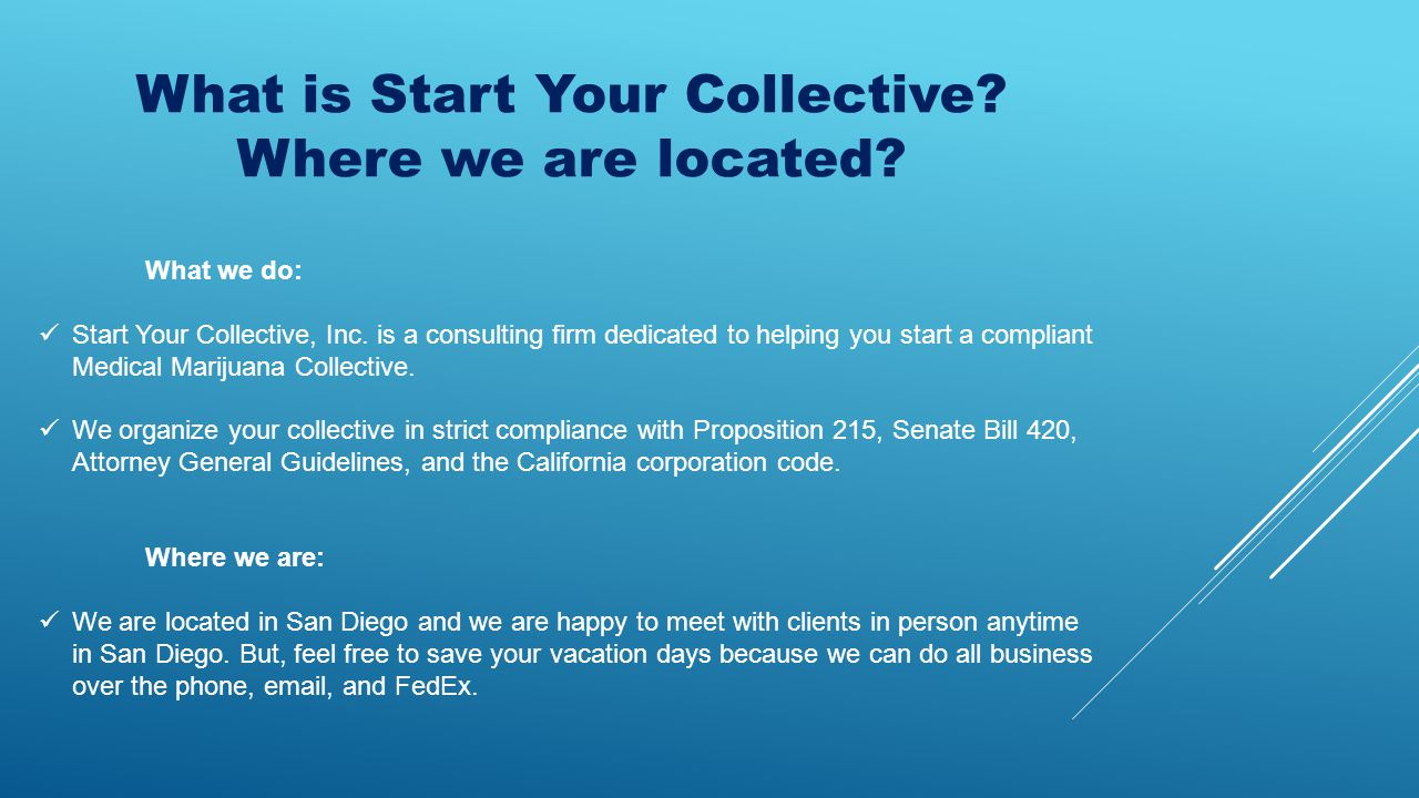 What is Start Your Collective. Where we are located.