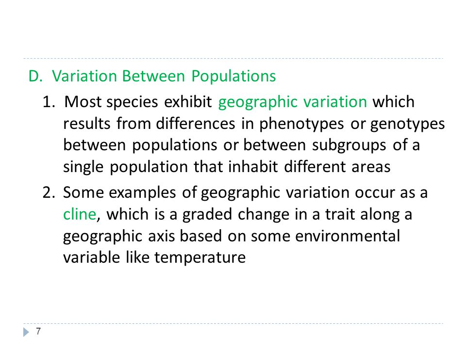38 2. Disruptive Selection Favors individuals at both extremes of the phenotypic range