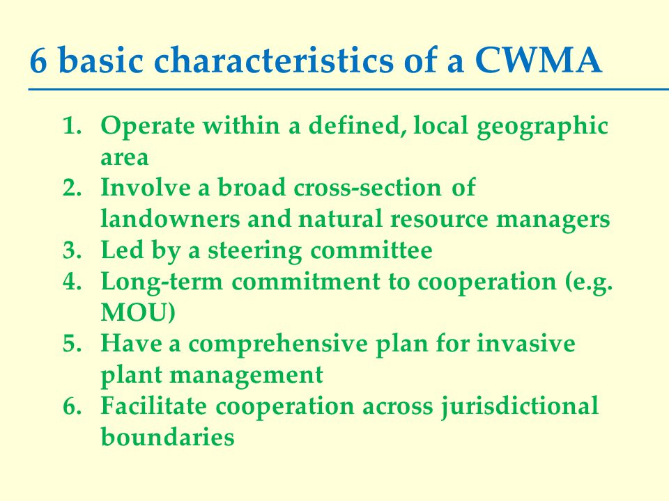 There is no official certification of CWMAs.