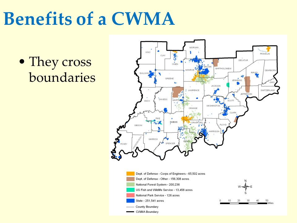 Benefits of a CWMA They allow partners to share and leverage limited resources.