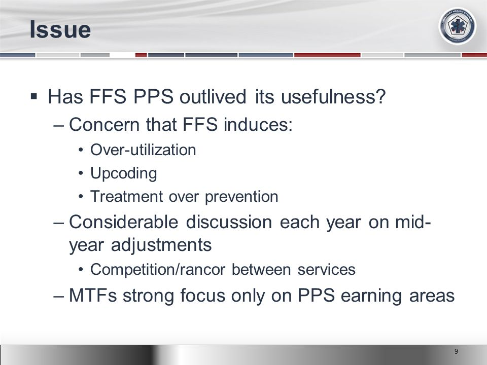 2011 MHS Conference Issue  Has FFS PPS outlived its usefulness.