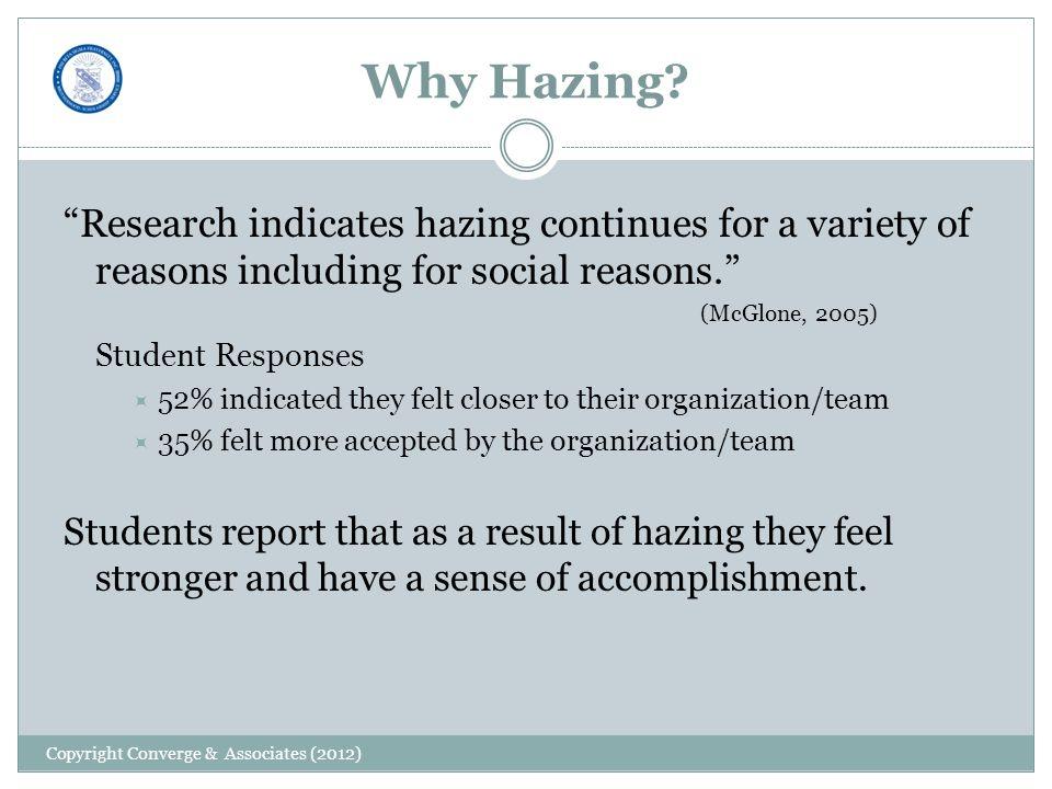 Why Hazing.