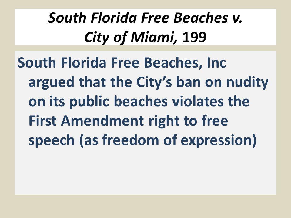 South Florida Free Beaches v.