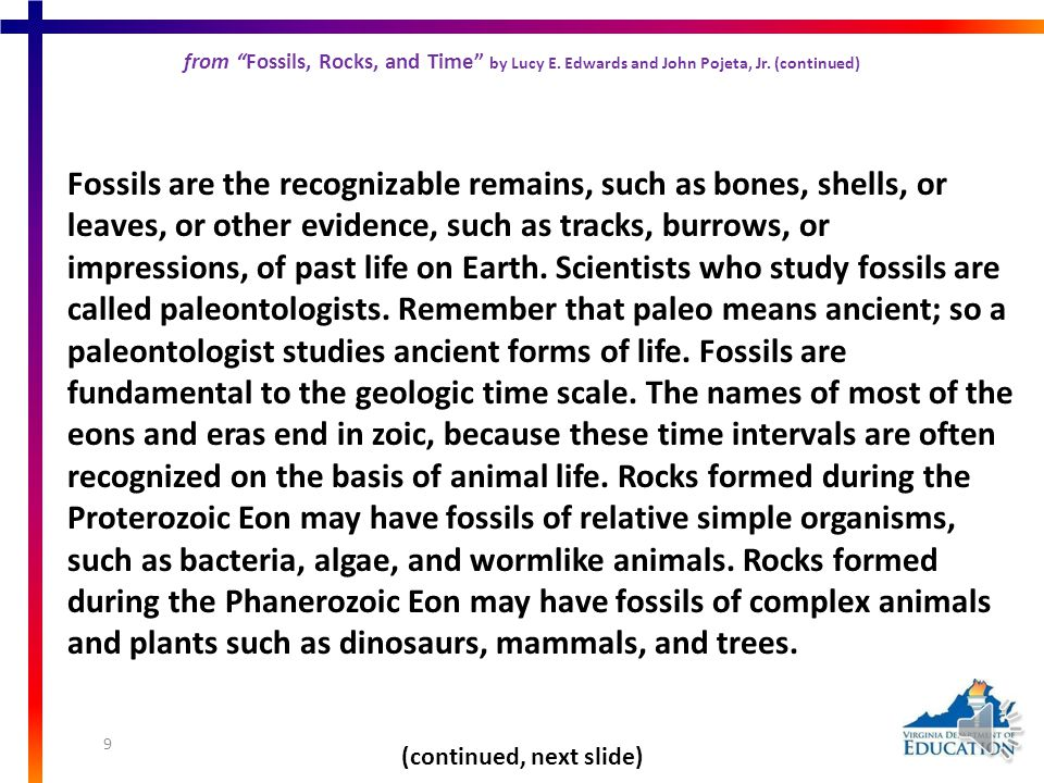 from Fossils, Rocks, and Time from Fossils, Rocks, and Time by Lucy E. Edwards and John Pojeta, Jr. Long before geologistsLong before geologists had t