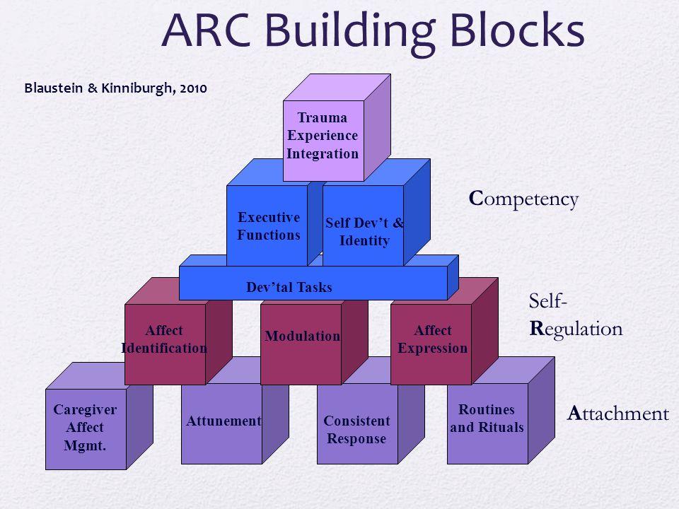 Blaustein & Kinniburgh, 2010 ARC Building Blocks Attachment Self- Regulation Competency Caregiver Affect Mgmt.