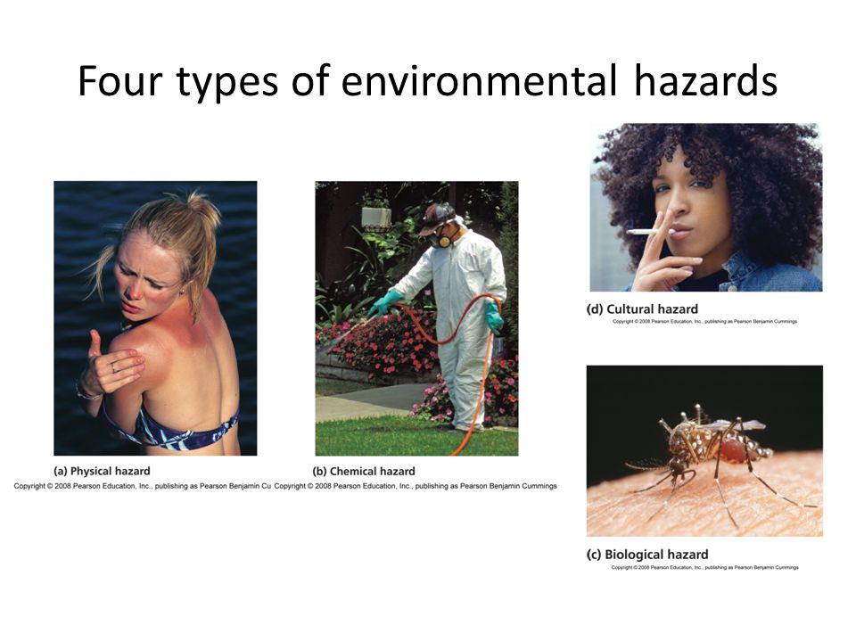 Four types of environmental hazards