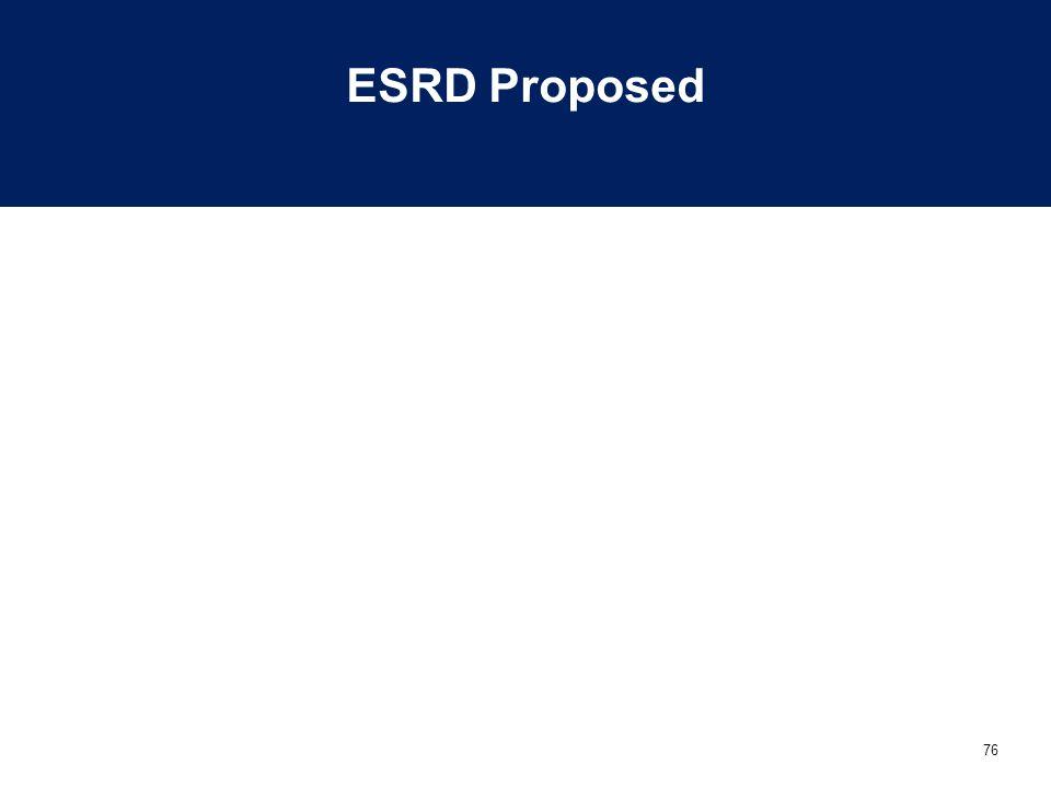 76 ESRD Proposed