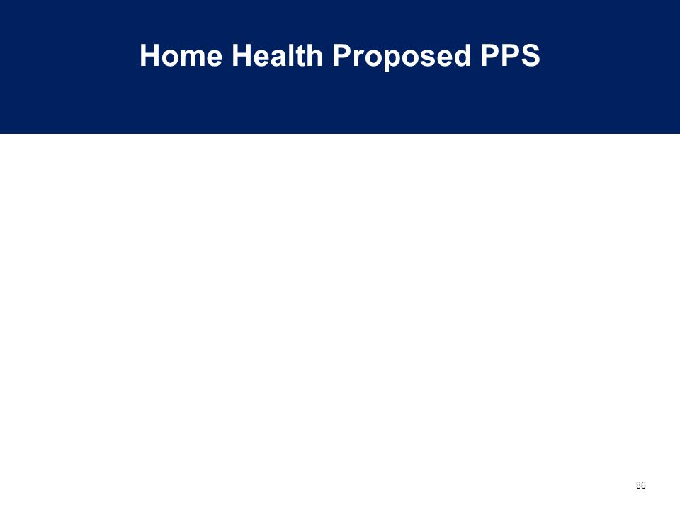 86 Home Health Proposed PPS