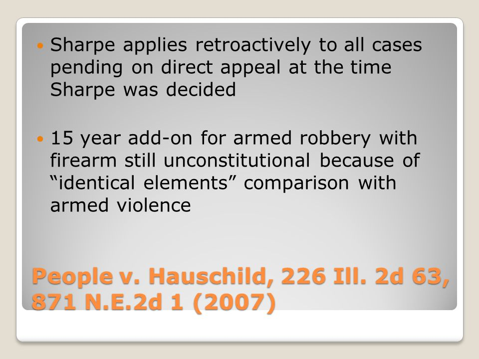 People v. Hauschild, 226 Ill.