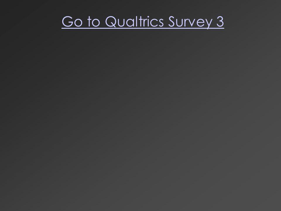 Go to Qualtrics Survey 3