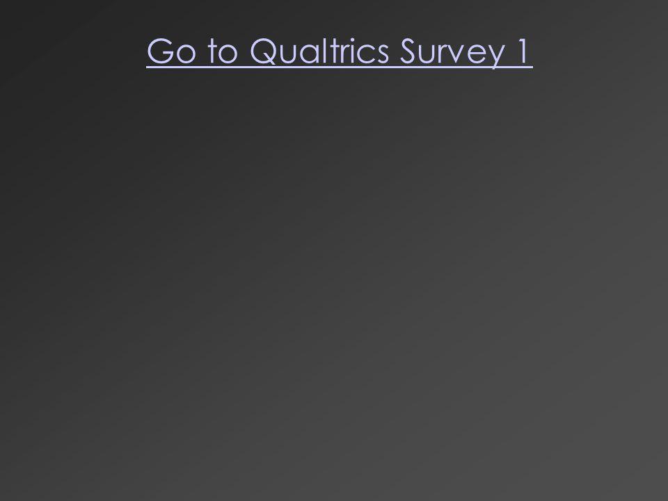 Go to Qualtrics Survey 1