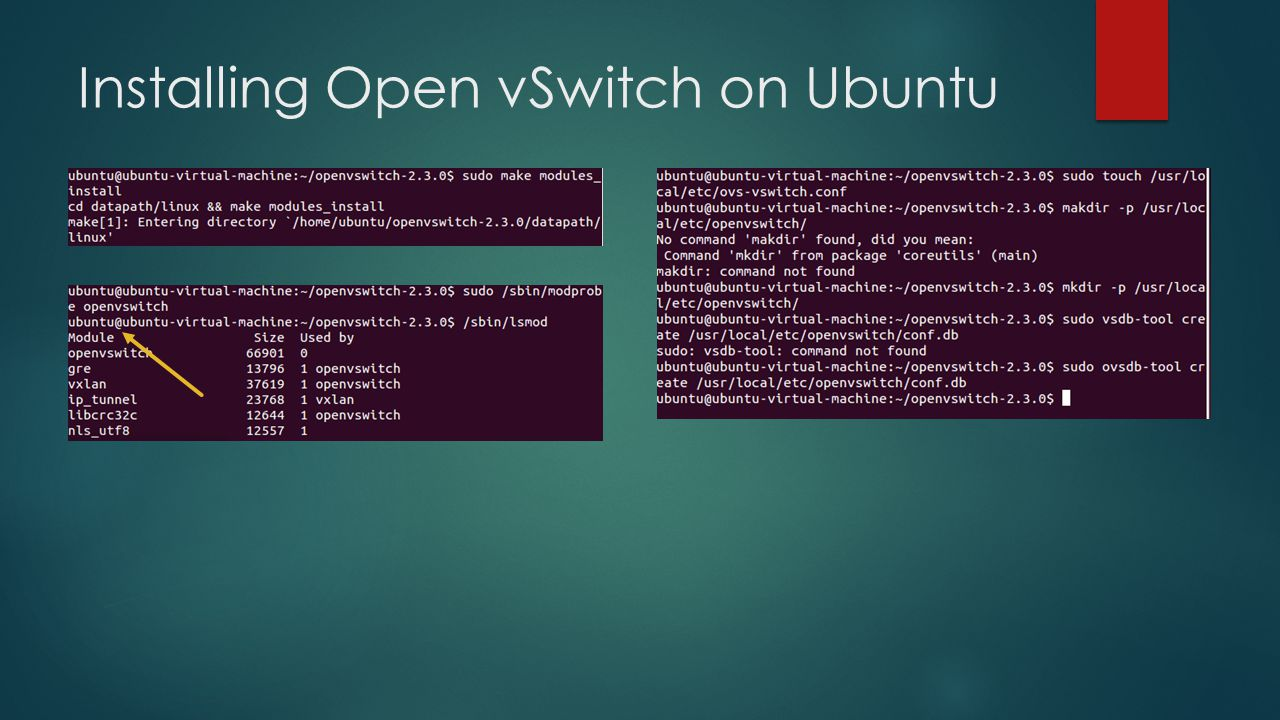 Installing Open vSwitch on Ubuntu