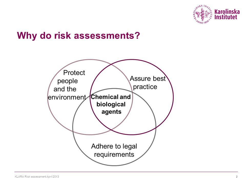 KLARA KLARA Risk assessment April 201323