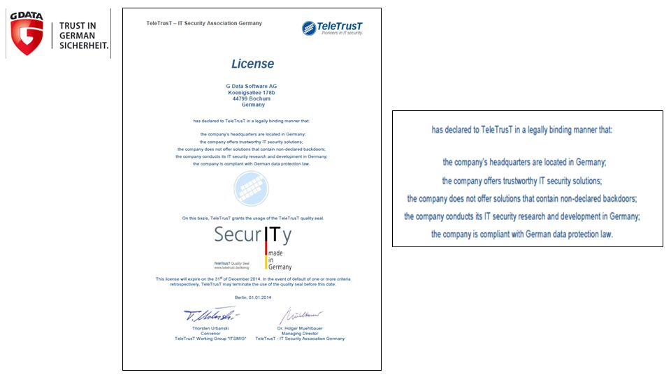  Offers the best protection based on comparison test results of the highly respected German organization Stiftung Warentest – winning seven times in a row.