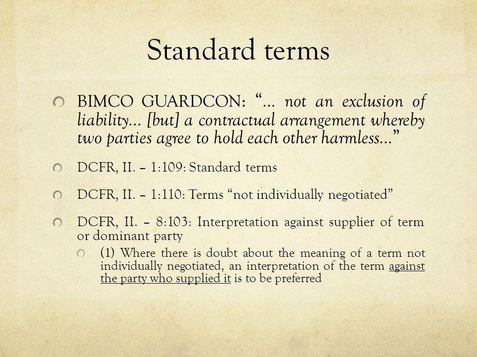 Unfair Terms (ii) DCFR, II.