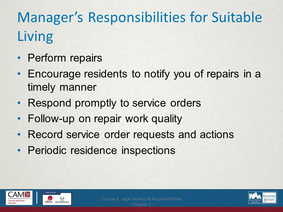 Course 2: Legal Aspects & Responsibilities Chapter 3 39 Standard Bid Requirements, continued Waiver lien Inspection Payment for goods Failure to replace goods