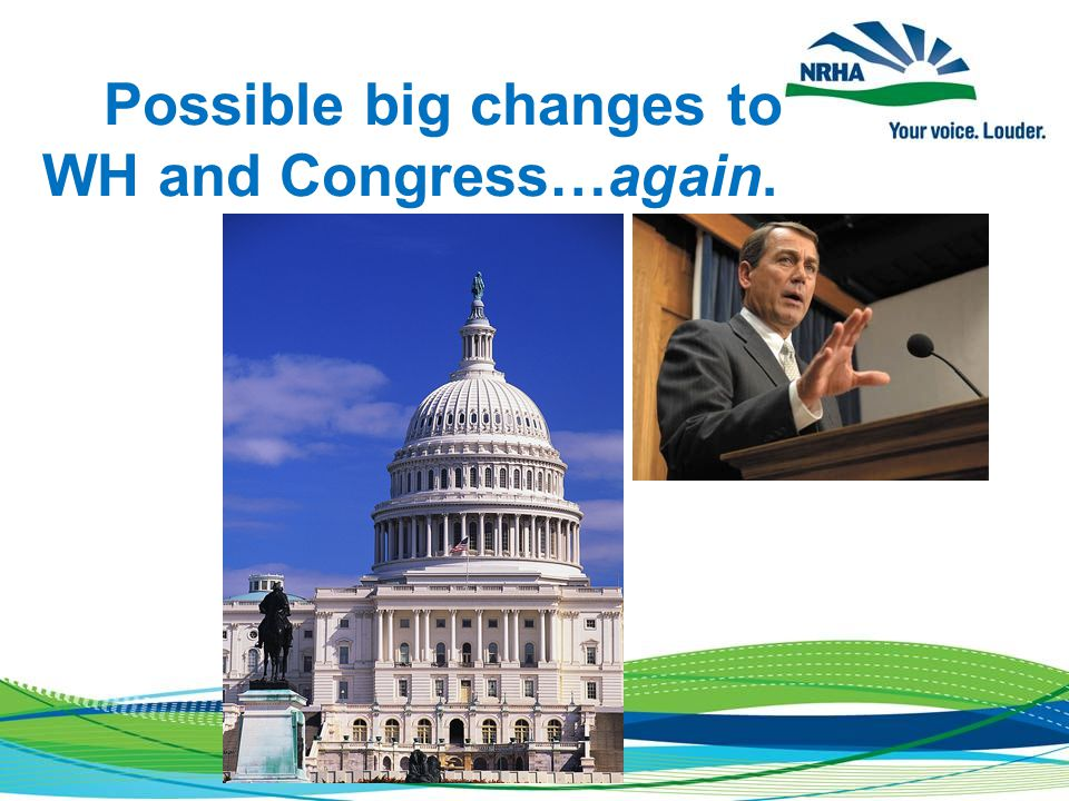 Possible big changes to WH and Congress…again.