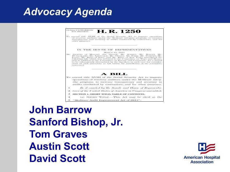 Advocacy Agenda John Barrow Sanford Bishop, Jr. Tom Graves Austin Scott David Scott