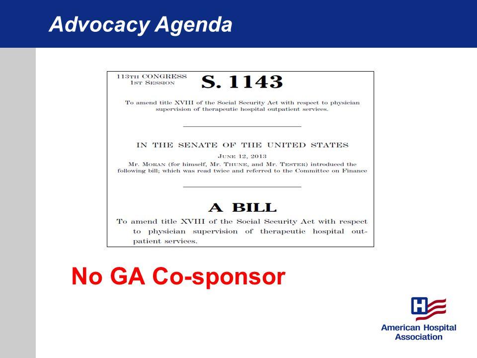 Advocacy Agenda No GA Co-sponsor