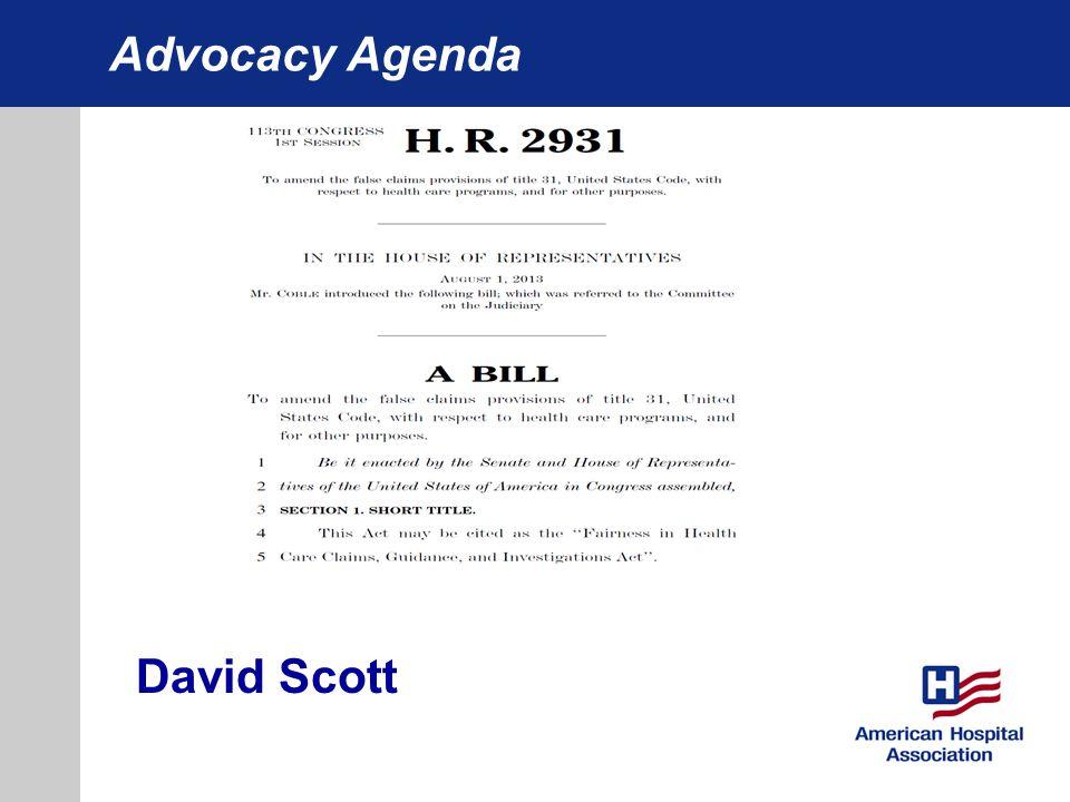 Advocacy Agenda David Scott