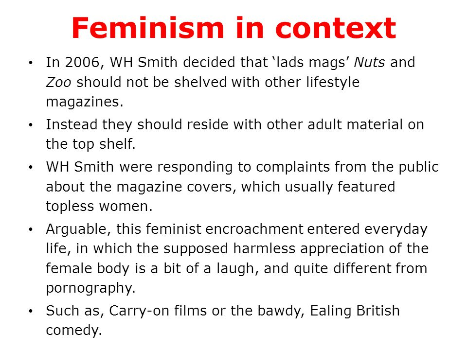 Feminist debates Representation debates about women are common; many were outraged by posters advertising Pulp's This is hardcore (1998), which depicted a naked woman, especially as the tile linked the picture with pornography.