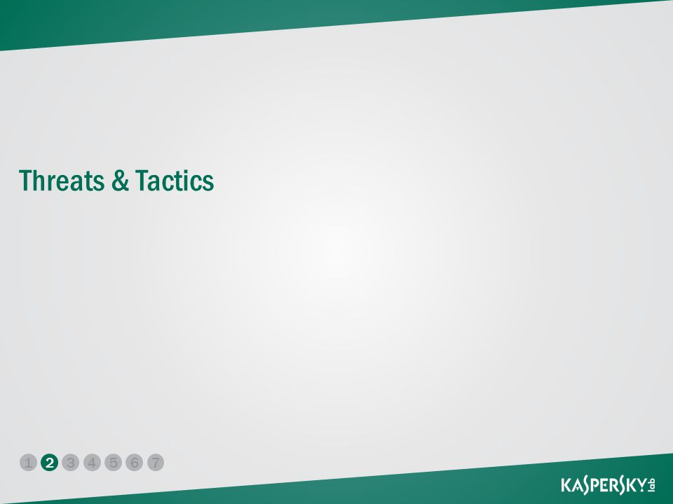 17 2345 6 Threats & Tactics