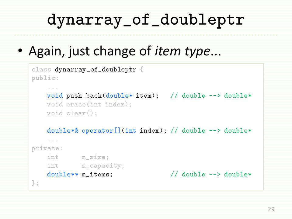 dynarray_of_doubleptr Again, just change of item type...