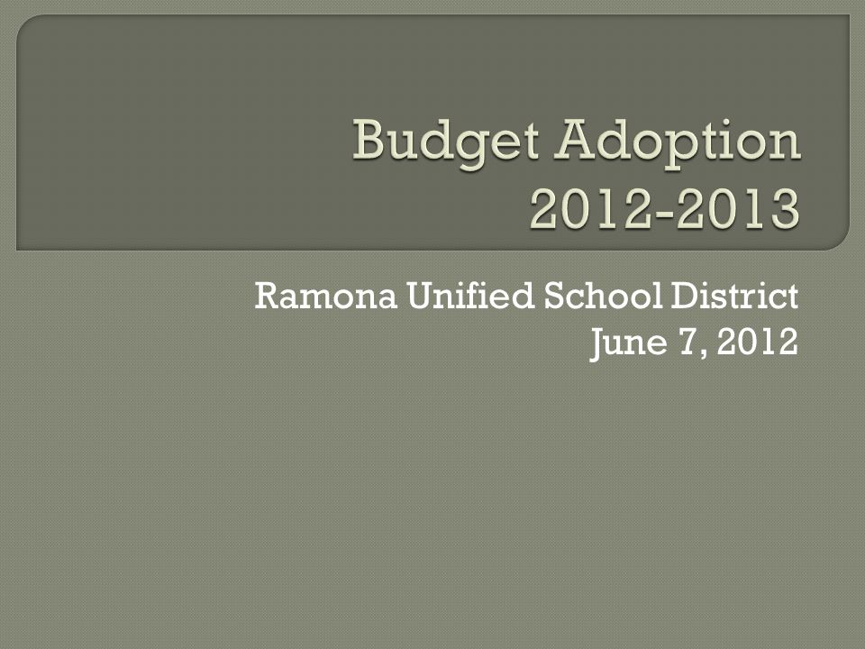 Ramona Unified School District June 7, 2012