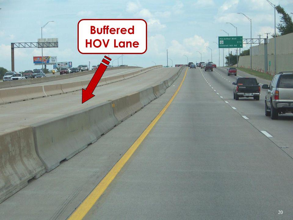Buffered HOV Lane 20