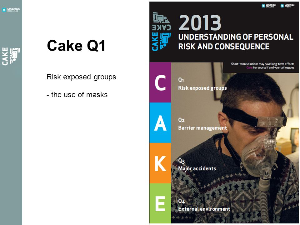 Cake Q1 Risk exposed groups - the use of masks