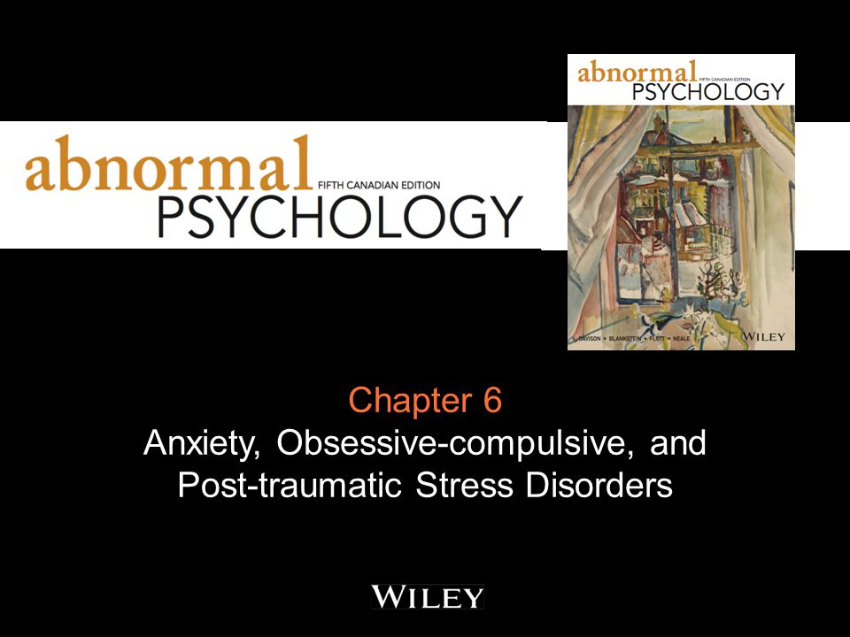 Anxiety Disorders Anxiety: the unpleasant feeling of fear and apprehension Anxiety has two major components: the physiological the heightened level of arousal and physiological activation the cognitive the subjective perception of the anxious arousal and the associated cognitive processes: worry and rumination.