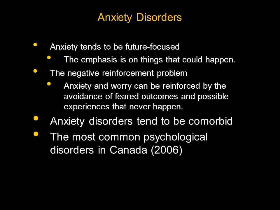 When does anxiety become a problem.