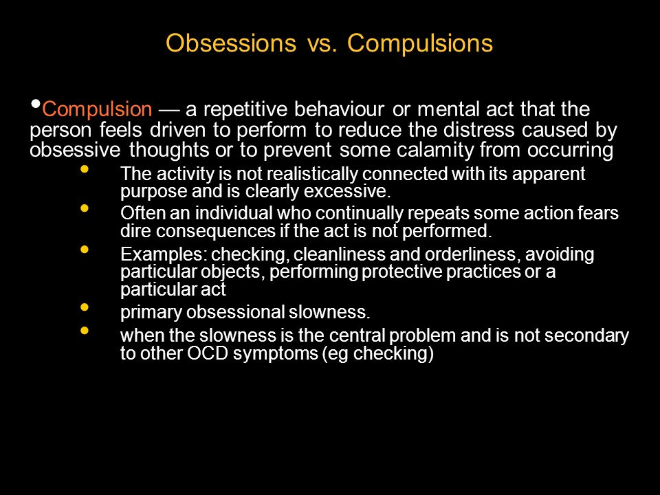 What Makes Compulsions Worse.