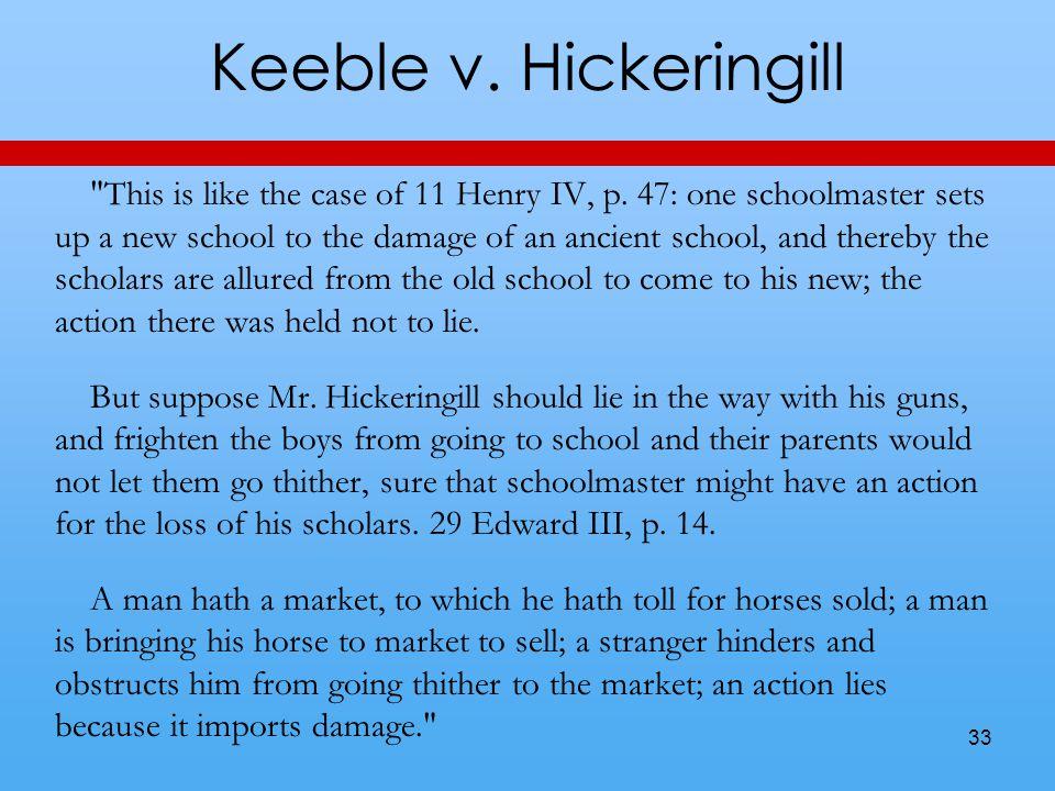 Keeble v. Hickeringill