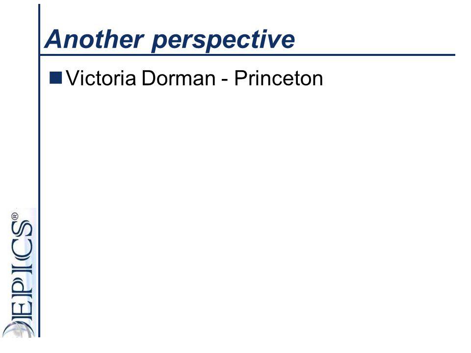 Another perspective Victoria Dorman - Princeton