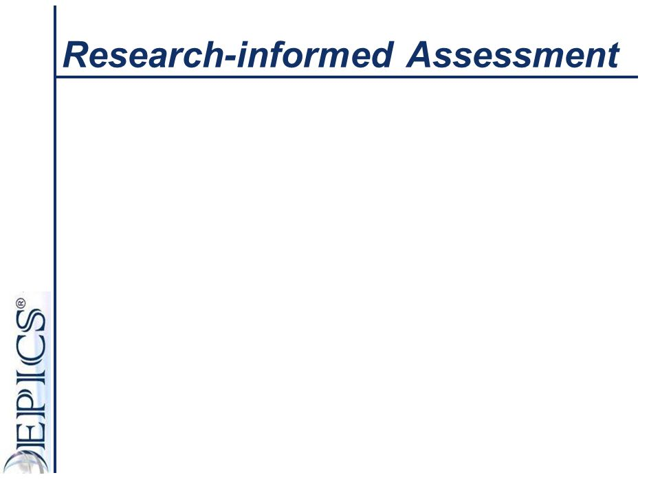 Research-informed Assessment
