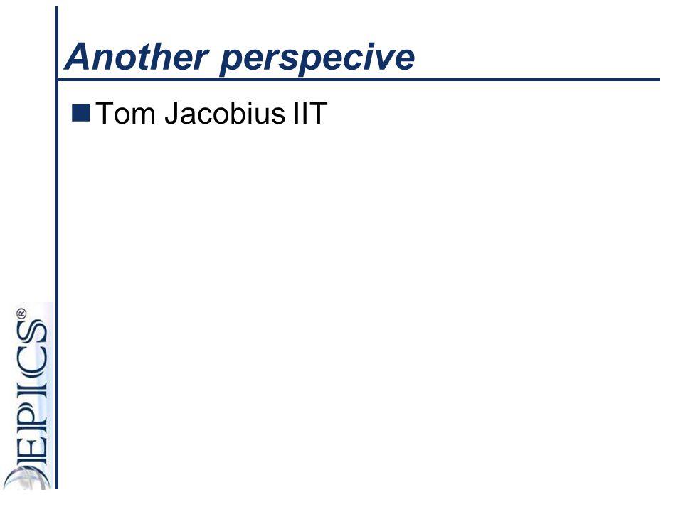 Another perspecive Tom Jacobius IIT